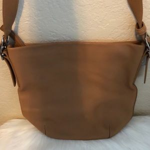 Genuine Leather Tan Coach Purse